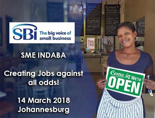 SBI SME Indaba – Wed 14 March 2018: Johannesburg