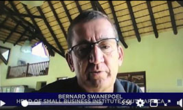 Bernard Swanepoel: Support small businesses with all your heart